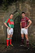 21 February 2011; Photographed at a GAA promotional event for the Allianz football league are Andy Moran, left, Mayo, and Finian Hanley, Galway. Cong, Co. Mayo. Picture credit: David Maher / SPORTSFILE