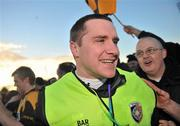 27 February 2011; Crossmaglen Rangers manager Tony McEntee after victory over Kilmacud Crokes. AIB GAA Football All-Ireland Senior Club Championship Semi-Final, Kilmacud Crokes v Crossmaglen Rangers, Pairc Tailteann, Navan, Co. Meath. Picture credit: Brian Lawless / SPORTSFILE