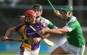 16 October 2016; Barry O'Rorke of Kilmacud Crokes in action against Kevin Ryan, centre, and Michael Carton of O'Toole's during the Dublin County Senior Club Hurling Championship Semi-Finals game between Kilmacud Crokes and O'Toole's at Parnell Park in Dublin. Photo by Cody Glenn/Sportsfile