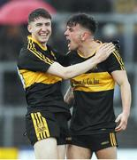 16 October 2016; Michéal Burns, right, and Jordan Kiely of Dr. Crokes celebrate after the Kerry County Senior Club Football Championship Final game between Dr. Crokes and Kenmare District at Fitzgerald Stadium in Killarney, Co. Kerry. Photo by Brendan Moran/Sportsfile
