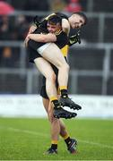 16 October 2016; Michéal Burns and Jordan Kiely, right, of Dr. Crokes celebrate after the Kerry County Senior Club Football Championship Final game between Dr. Crokes and Kenmare District at Fitzgerald Stadium in Killarney, Co. Kerry. Photo by Brendan Moran/Sportsfile