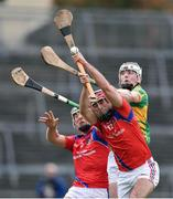 16 October 2016; Aiden Helebert of Gort in action against James Regan and Fintan Burke of St. Thomas during the Galway County Senior Club Hurling Championship Final game between Gort and St.Thomas at Pearse Stadium in Galway. Photo by David Maher/Sportsfile