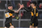16 October 2016; Michéal Burns, left, and Tony Brosnan  of Dr. Crokes celebrate after the Kerry County Senior Club Football Championship Final game between Dr. Crokes and Kenmare District at Fitzgerald Stadium in Killarney, Co. Kerry. Photo by Brendan Moran/Sportsfile