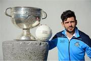 18 October 2016; AIG Insurance, proud sponsor of Dublin GAA, held a reception at its offices today to mark the Dublin football team's All-Ireland success. Pictured is Cian O'Sullivan of Dublin with the Sam Maguire cup. For more information about AIG Insurance's products and services go to www.aig.ie or call 1890 50 27 27. AIG Offices in North Wall Quay, Dublin. Photo by Cody Glenn/Sportsfile