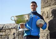 18 October 2016; AIG Insurance, proud sponsor of Dublin GAA, held a reception at its offices today to mark the Dublin football team's All-Ireland success. Pictured is James McCarthy of Dublin with the Sam Maguire cup. For more information about AIG Insurance's products and services go to www.aig.ie or call 1890 50 27 27. AIG Offices in North Wall Quay, Dublin. Photo by Cody Glenn/Sportsfile