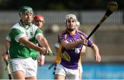 16 October 2016; Michael Carton of O'Toole's in action against Robert O'Loughlin of Kilmacud Crokes during the Dublin County Senior Club Hurling Championship Semi-Finals game between Kilmacud Crokes and O'Toole's at Parnell Park in Dublin. Photo by Cody Glenn/Sportsfile