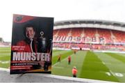 22 October 2016; A view of the match programme before the European Rugby Champions Cup Pool 1 Round 2 match between Munster and Glasgow Warriors at Thomond Park in Limerick. Photo by Diarmuid Greene/Sportsfile