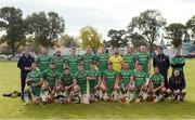 22 October 2016; The Ireland squad prior to the 2016 Senior Hurling/Shinty International Series match between Ireland and Scotland at Bught Park in Inverness, Scotland. Photo by Piaras Ó Mídheach/Sportsfile