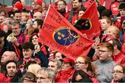 22 October 2016; Munster supporters show their support in memory of the late Munster Rugby head coach Anthony Foley before the European Rugby Champions Cup Pool 1 Round 2 match between Munster and Glasgow Warriors at Thomond Park in Limerick. The Shannon club man, with whom he won 5 All Ireland League titles, played 202 times for Munster and was capped for Ireland 62 times, died suddenly in Paris on November 16, 2016 at the age of 42. Photo by Brendan Moran/Sportsfile