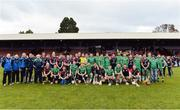 22 October 2016; The Ireland and Scotland squads after the 2016 Senior Hurling/Shinty International Series match between Ireland and Scotland at Bught Park in Inverness, Scotland. Photo by Piaras Ó Mídheach/Sportsfile