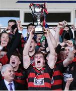 23 October 2016; Brian O'Sullivan captain of Ballygunnar lifts the cup as his team-mates celebrate after the Waterford County Senior Club Hurling Championship Final game between Ballygunnar and Passage at Walsh Park in Waterford. Photo by Matt Browne/Sportsfile