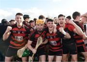 23 October 2016; Ballygunnar players from left Johnny McCarthy, team captain Brian O'Sullivan, Peter Hogan and Paddy Cooke, celebrates after the final whistle at the Waterford County Senior Club Hurling Championship Final game between Ballygunnar and Passage at Walsh Park in Waterford. Photo by Matt Browne/Sportsfile