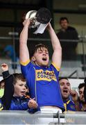 23 October 2016; St Rynagh's captain Sean Dolan lifts the cup following his team's victory in the Offaly County Senior Club Hurling Championship Final game between St Rynagh's and Birr at O'Connor Park in Tullamore, Co Offaly. Photo by Cody Glenn/Sportsfile