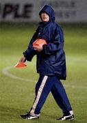 7  November 2001; Iranian manager Miroslav Blezovic pictured during an Iranian squad training session in the Carlisle Grounds, Bray, Co. Wicklow. Soccer. Picture credit; Brendan Moran / SPORTSFILE *EDI*
