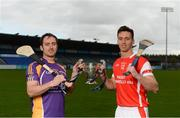 24 October 2016; Ryan O'Dwyer of Kilmacud Crokes, left, and Mark Schutte of Cuala in attendance at the Dublin Senior Hurling Championship Final Preview ahead of the final which takes place on Saturday 29th October at 3.00pm at Parnell Park in Dublin. Photo by Piaras Ó Mídheach/Sportsfile