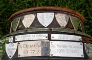 24 October 2016; A detailed view of the names of previous winners on the base of the New Ireland Assurance Company Perpetual Challenge Cup at the Dublin Senior Hurling Championship Final Preview ahead of the final which takes place on Saturday 29th October at 3.00pm at Parnell Park in Dublin. Photo by Piaras Ó Mídheach/Sportsfile