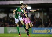24 October 2016; Michael McSweeney of Cork City in action against Eoin Porter of Wexford Youths during the SSE Airtricity League Premier Division match between Cork City and Wexford Youths at Turners Cross in Cork. Photo by Eóin Noonan/Sportsfile