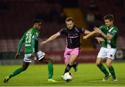 24 October 2016; John Bonner of Wexford Youths in action against Gavin Holohan, right, and Chiedoize Ogbene of Cork City during the SSE Airtricity League Premier Division match between Cork City and Wexford Youths at Turners Cross in Cork. Photo by Eóin Noonan/Sportsfile