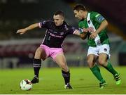24 October 2016; Shane Dempsey of Wexford Youths in action against Mark O'Sullivan of Cork City during the SSE Airtricity League Premier Division match betwen Cork City and Wexford Youths at Turners Cross in Cork. Photo by Eóin Noonan/Sportsfile