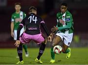 24 October 2016; Chiedozie Ogbene of Cork City in action against Aidan Friel of Wexford Youths during the SSE Airtricity League Premier Division match between Cork City and Wexford Youths at Turners Cross in Cork. Photo by Eóin Noonan/Sportsfile