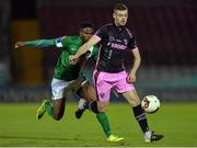 24 October 2016; Craig McCabe of Wexford Youths in action against Chiedozie Ogbene of Cork City during the SSE Airtricity League Premier Division match between Cork City and Wexford Youths at Turners Cross in Cork. Photo by Eóin Noonan/Sportsfile