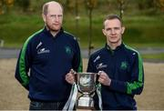 25 October 2016; Baltinglass manager Paul Garrigan and Jason Kennedy of Baltinglass, Co. Wicklow, in attendance during the AIB Leinster Club Championships 2016 Launch at GAA's National Games Development Centre in Abbotstown, Co. Dublin Photo by Sam Barnes/Sportsfile
