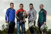 25 October 2016; In attendance during the AIB Leinster Club Championships 2016 Launch are from left, Paul Greville of Raharney, Co. Westmeath, Keith Rossiter of Oulart the Ballagh, Co. Wexford, Martin Kavannagh of St Mullins, Co. Carlow, and Brian Stapleton of Borris-Kilcotton, Co. Laois, at GAA's National Games Development Centre in Abbotstown, Co. Dublin Photo by Sam Barnes/Sportsfile