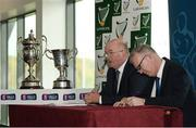 25 October 2016; John Horan, Chairman of Leinster Council and Pat Teehan, Leinster Council PRO. in attendance during the AIB Leinster Club Championships 2016 Launch at GAA's National Games Development Centre in Abbotstown, Co. Dublin Photo by Sam Barnes/Sportsfile