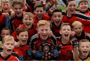 26 October 2016; Holy Trinity SNS, Donaghmede, captain Eoin Kiernan and his team-mates celebrate after beating Our Lady of Good Counsel BNS, Johnstown in the Sciath Corn Chumann na nGael final during the Allianz Cumann na mBunscol Finals at Croke Park in Dublin. Photo by Piaras Ó Mídheach/Sportsfile