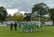 22 October 2016; The Ireland team and management prior to the 2016 U21 Hurling/Shinty International Series match between Ireland and Scotland at Bught Park in Inverness, Scotland. Photo by Piaras Ó Mídheach/Sportsfile