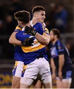 27 October 2016; Eoin O'Brien, right, and Paul Bourke of Castleknock celebrate at the final whistle following the Dublin County Senior Club Football Championship Semi-Final between St. Judes and Castleknock at Parnell Park in Dublin. Photo by Sam Barnes/Sportsfile
