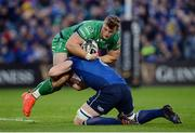 29 October 2016; Peter Robb of Connacht is tackled by Dan Leavy of Leinster during the Guinness PRO12 Round 7 match between Leinster and Connacht at the RDS Arena, Ballsbridge, in Dublin. Photo by Seb Daly/Sportsfile