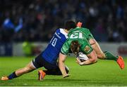 29 October 2016; Peter Robb of Connacht is tackled by Joey Carbery of Leinster during the Guinness PRO12 Round 7 match between Leinster and Connacht at the RDS Arena, Ballsbridge, in Dublin. Photo by Ramsey Cardy/Sportsfile