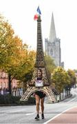 30 October 2016; Michel Bach from Magney Le Hongre, France, dressed as the Eiffel Tower during the SSE Airtricity Dublin Marathon 2016 in Dublin City. 19,500 runners took to the Fitzwilliam Square start line to participate in the 37th running of the SSE Airtricity Dublin Marathon, making it the fourth largest marathon in Europe. Photo by Ramsey Cardy/Sportsfile