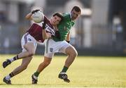30 October 2016; Rian Brady of St Columbas Mullinalaghta in action against Liam Knowles of Stradbally during the AIB Leinster GAA Football Senior Club Championship first round game between St Columbas Mullinalaghta and Stradbally at Glennon Brothers Pearse Park in Longford. Photo by David Maher/Sportsfile