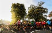 30 October 2016; A general view of runners making their way through Pheonix Park during the SSE Airtricity Dublin Marathon 2016 in Dublin City. 19,500 runners took to the Fitzwilliam Square start line to participate in the 37th running of the SSE Airtricity Dublin Marathon, making it the fourth largest marathon in Europe.  Photo by Ramsey Cardy/Sportsfile