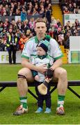 30 October 2016; O'Loughlin Gaels captain Brian Hogan with his son Jack, age 3, prior to the Kilkenny County Senior Club Hurling Championship Final game between Ballyhale Shamrocks and O'Loughlin Gaels at Nowlan Park in Kilkenny. Photo by Piaras Ó Mídheach/Sportsfile