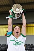 30 October 2016; O'Loughlin Gaels captain Brian Hogan lifts the cup after the Kilkenny County Senior Club Hurling Championship Final game between Ballyhale Shamrocks and O'Loughlin Gaels at Nowlan Park in Kilkenny. Photo by Piaras Ó Mídheach/Sportsfile
