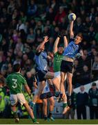 30 October 2016; Adian Hughes of Donaghmore/Ashbourne, centre, in action against Shane O'Rourke, left, and Mark McCabe of Simonstown Gaels during the Meath County Senior Club Football Championship Final game between Donaghmore/Ashbourne and Simonstown at Pairc Táilteann in Navan, Co. Meath. Photo by Seb Daly/Sportsfile
