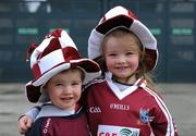 17 March 2010; Supporters Steven, four years, and his sister Hanna Jennings, six years, supporting Clarinbridge at the game. AIB GAA Hurling All-Ireland Senior Club Championship Final, Clarinbridge v O'Loughlin Gaels, Croke Park, Dublin. Picture credit: Ray McManus / SPORTSFILE