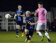 31 October 2016; Sean Thornton of Drogheda United in action against Lee Chin of Wexford Youths during the SSE Airtricity Promotion/Relegation play-off - First leg match between Wexford Youths and Drogheda United at Ferrycarrig Park in Wexford. Photo by Matt Browne/Sportsfile