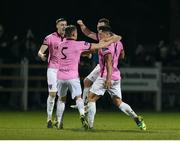 31 October 2016; Lee Chin of Wexford Youths celebrates after scoring his side's second goal against Drogheda United with his team-mates during the SSE Airtricity Promotion/Relegation play-off - First leg match between Wexford Youths and Drogheda United at Ferrycarrig Park in Wexford. Photo by Matt Browne/Sportsfile