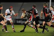18 March 2011; Chris Henry, Ulster, in action against Adam Jones, Dragons. Celtic League, Ulster v Dragons, Ravenhill Park, Belfast, Co. Antrim. Picture credit: Oliver McVeigh / SPORTSFILE