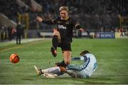 3 November 2016; John Mountney of Dundalk in action against Domenico Criscito of Zenit St Petersburg during the UEFA Europa League Group D Matchday 4 match between Zenit St Petersburg v Dundalk at Stadion Pertrovskiy in St Petersburg, Russia. Photo by David Maher/Sportsfile