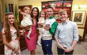 3 November 2016; Race walker Robert Heffernan with his wife Marian and children Meghan, age 13, Tara, age 19 months, Regan, age 2, and Cathal, age 11, before he is presented with the 2012 London Olympic Men's 50km Race Walk Bronze Medal at City Hall in Cork. A result of decisions in relation to six Russian athletes including racewalker Sergey Kirdyapkin who won the Gold Medal at the Olympic Games in London in 2012 smashing the 50km World Record Heffernan who finished fourth in the same race has been retrospectively awarded a Bronze following Kirdyapkin's disqualification. Photo by Stephen McCarthy/Sportsfile