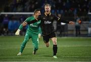 3 November 2016; Daryl Horgan of Dundalk celebrates after scoring his side's first goal during the UEFA Europa League Group D Matchday 4 match between Zenit St Petersburg v Dundalk at Stadion Pertrovskiy in St Petersburg, Russia. Photo by David Maher/Sportsfile