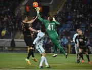 3 November 2016; Ciaran Kilduff of Dundalk in action against of Mikhail Kerzhakov and Yuriy Zhirkov of Zenit St Petersburg during the UEFA Europa League Group D Matchday 4 match between Zenit St Petersburg and Dundalk at Stadion Pertrovskiy in St Petersburg, Russia. Photo by David Maher/Sportsfile