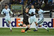 3 November 2016; Daryl Horgan of Dundalk in action against Luís Neto of Zenit St Petersburg during the UEFA Europa League Group D Matchday 4 match between Zenit St Petersburg v Dundalk at Stadion Pertrovskiy in St Petersburg, Russia. Photo by David Maher/Sportsfile