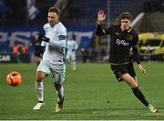 3 November 2016; Seán Gannon of Dundalk in action against Domenico Criscito of Zenit St Petersburg during the UEFA Europa League Group D Matchday 4 match between Zenit St Petersburg and Dundalk at Stadion Pertrovskiy in St Petersburg, Russia. Photo by David Maher/Sportsfile