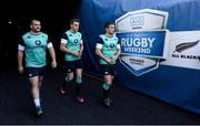 4 November 2016; Jack McGrath, left, Garry Ringrose and Luke McGrath, right, of Ireland make their way onto the pitch ahead of their captain's run at Soldier Field in Chicago, USA. Photo by Brendan Moran/Sportsfile